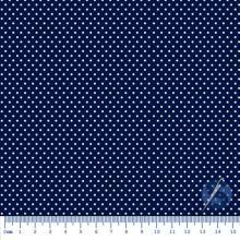 Tecido Tricoline Azul Marinho Mini Poá