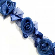 Guipir Botão de Rosa - Azul Marinho