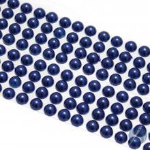 Cartela de Pérola Adesiva Azul - 6mm
