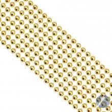 Cartela de Pérola Adesiva Dourada - 5mm