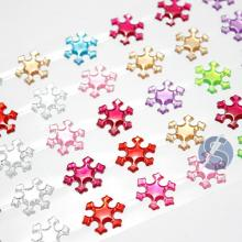 Cartela de Strass Adesivo Estrelas Colorido - 1,5cm