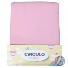 Fralda Pião Círculo Arte Baby Rosa Pacote 5m