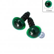 Olho Verde com Trava - 11mm