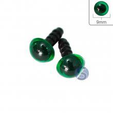 Olho verde com Trava - 9mm