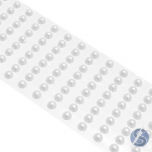 Cartela de Pérola Adesiva Branca - 4mm