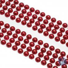 Cartela de Pérola Adesiva Vermelha - 4mm