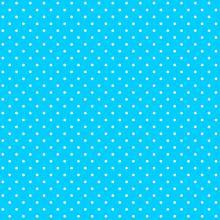 Tecido Tricoline Azul Turquesa Mini Poá Branco