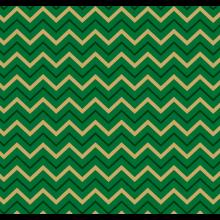 Tecido Tricoline Verde Chevron Dourado