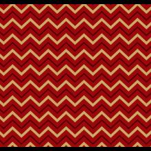 Tecido Tricoline Vermelho Chevron Dourado