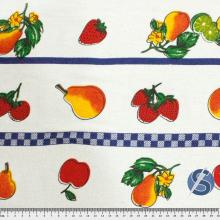 Tecido para Pano de Prato Barrado Frutas