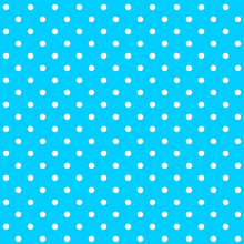 Tecido Tricoline Azul Turquesa Poá Médio Branco