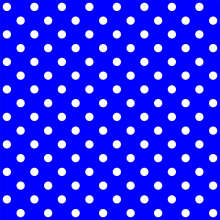 Tecido Tricoline Azul Bic Poá Grande Branco