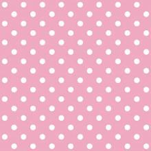 Tecido Tricoline Rosa Poá Grande Branco