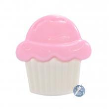 Botão Plástico Cupcake Rosa 25 Unidades