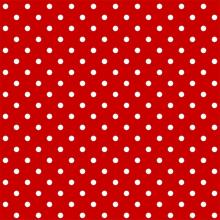 Tecido Tricoline Vermelho Mini Poa Branco
