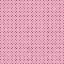 Tecido Tricoline Rosa Bebê Mini Poá Marrom