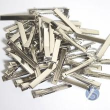 Bico de Pato Prata Metal - 50 unidades - 5,5cm