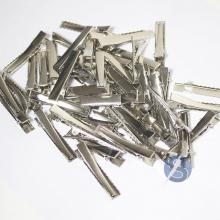 Bico de Pato Prata Metal - 50 unidades - 4,5cm