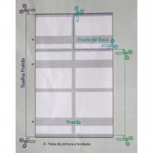 Fralda Multi Arte Branca Pinte e Borde Fração 70CMx70cm Dohler