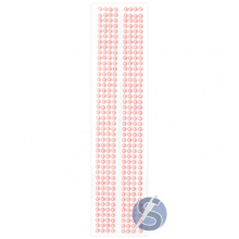 Cartela de Pérola Adesiva Rosa - 6mm