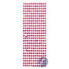 Cartela de Strass Adesivo Pink Furta Cor - 6mm