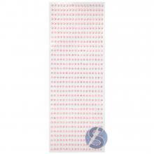 Cartela de Strass Adesivo Rosa Furta Cor - 4mm