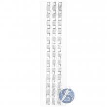 Cartela de Strass Adesivo Quadrados Prata - 1cm