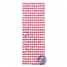 Cartela de Strass Adesivo Pink Furta Cor - 4mm