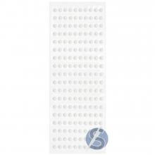 Cartela de Pérola Adesiva Branca - 3mm