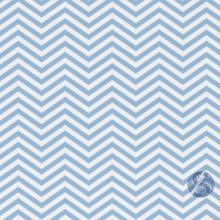 Tecido Tricoline Chevron Azul