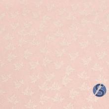 Tecido Tricoline Rosa Rosas Branca