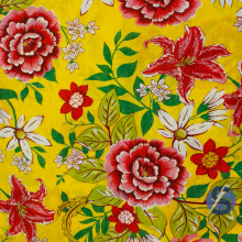 Chita Amarela Flores Coloridas
