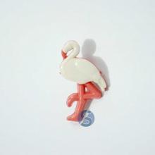 Botão Plástico Flamingo Natural com Salmão 25 Unidades