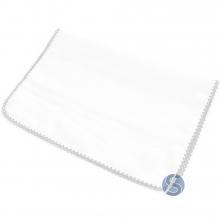 Fralda com Crochê Branca para Ponto Cruz 80 cm x 80 cm
