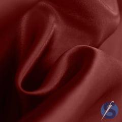 Tecido de Cetim Vermelho Escuro Com Elastano