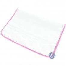 Fralda com Crochê Rosa para Ponto Cruz  80 cm x 80cm