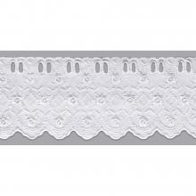Bordado Inglês com Passa Fita Branco PP022 - 7,5cm x 13,70 metros -