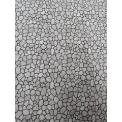 Tecido Tricoline Bege Médio Pedras