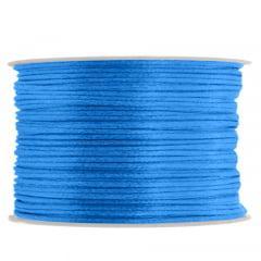 Cordão De Cetim 1 mm Azul  Royal 14