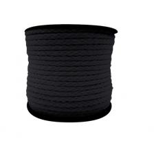 Cordão de Algodão Preto 4 mm A10 Peça 50 Mts