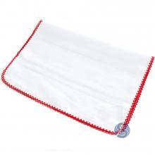 Fralda com Crochê Vermelho para Ponto Cruz 80 cm x 80 cm