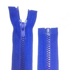 Zíper Jacaré Destacável Azul Royal 60 Cm