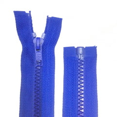 Zíper Jacaré Destacável Azul Royal 70 Cm