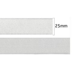 Velcro Adesivo Branco  25 mm