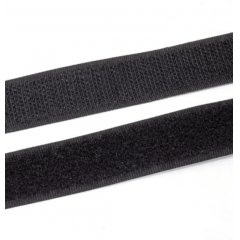 Velcro Adesivo Preto  20 mm