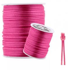 Cordão De Cetim Rosa Pink 2 mm 50 metros