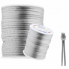 Cordão De Cetim Prata 1 mm 100 Metros