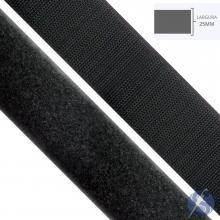 Velcro Preto 25mm Peça 25 Mts