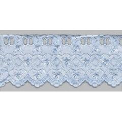 Bordado Inglês com Passa Fita Azul PP022 - 7,5cm x 13,70 metros -