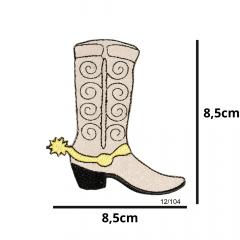 Aplique Termocolante Bota de Cowboy 3 Unidades Ref:12/104